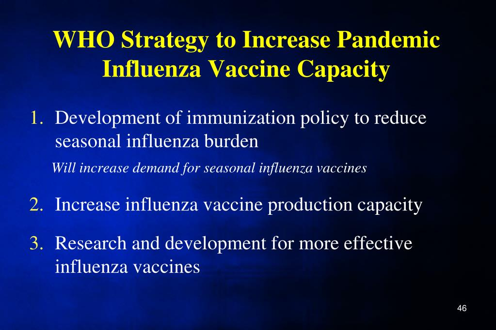 WHO Strategy to Increase Pandemic Influenza Vaccine Capacity