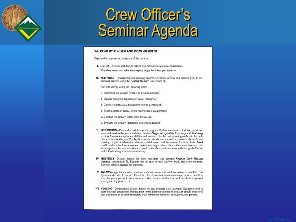 Crew Officer's