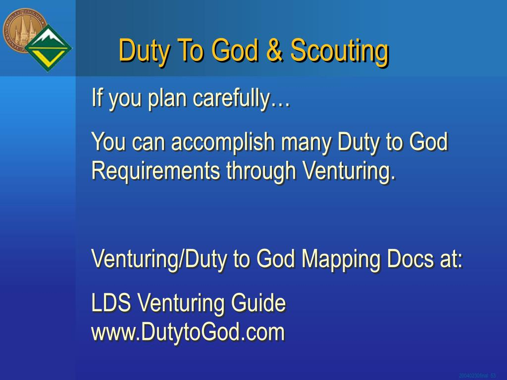 Duty To God & Scouting