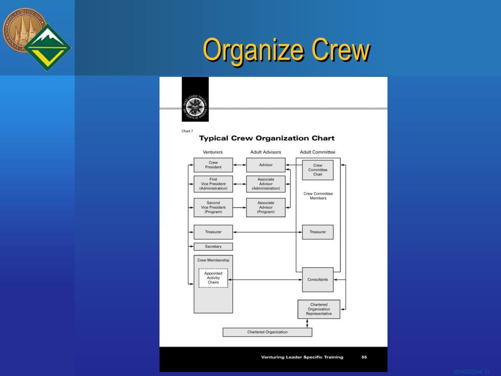 Organize Crew