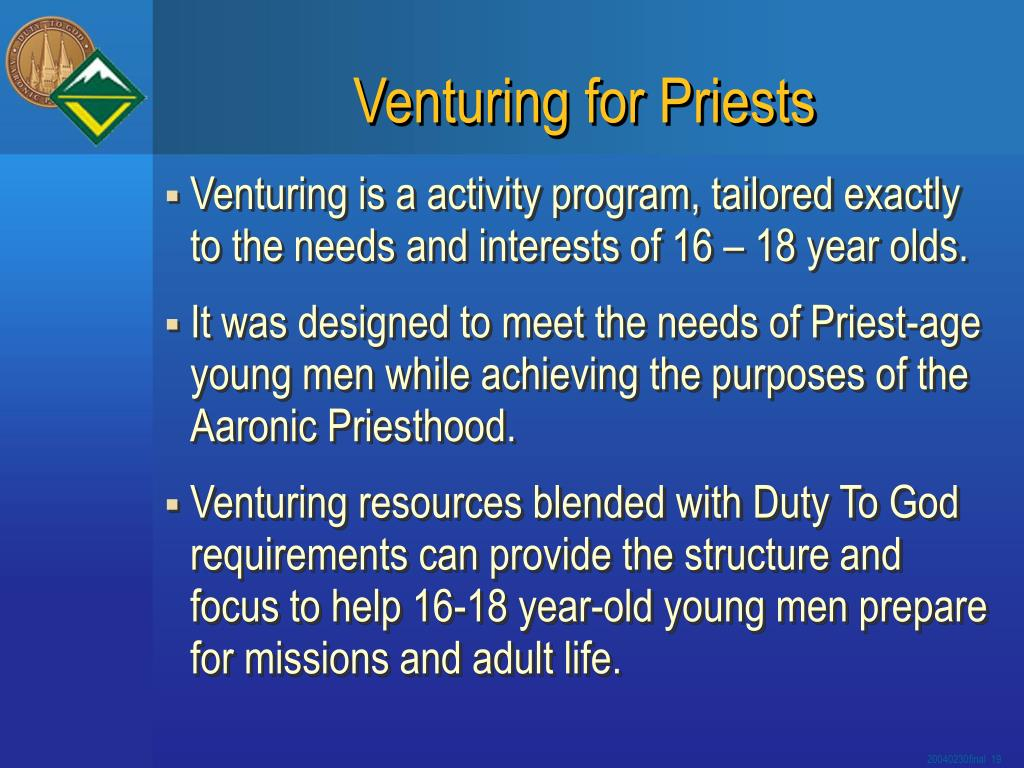 Venturing for Priests