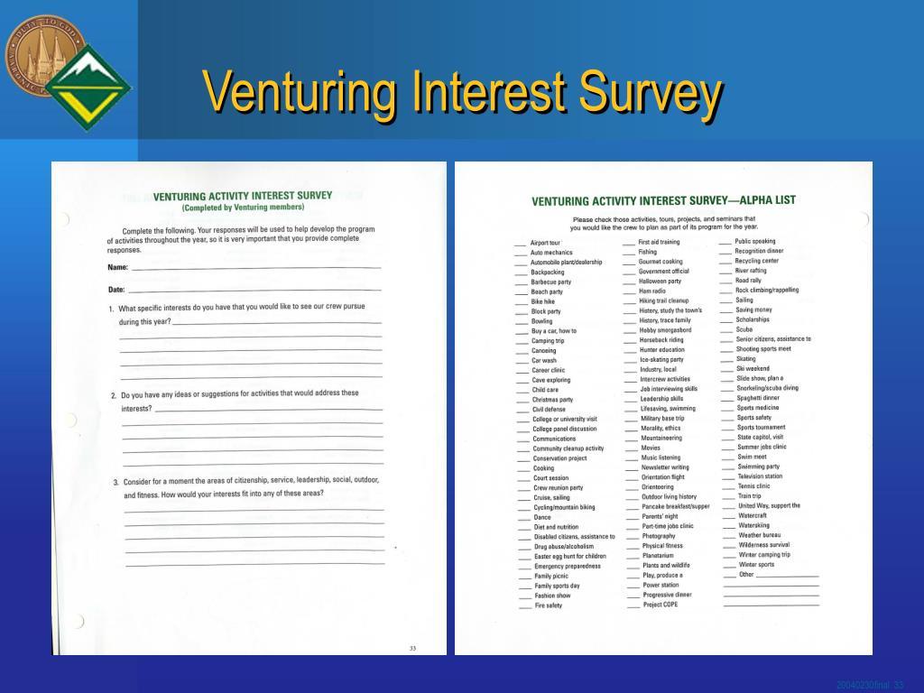 Venturing Interest Survey