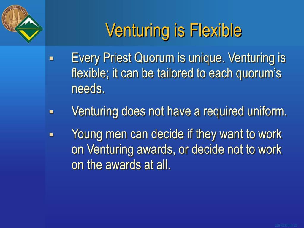 Venturing is Flexible