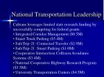 national transportation leadership