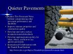 quieter pavements