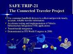 safe trip 21 the connected traveler project