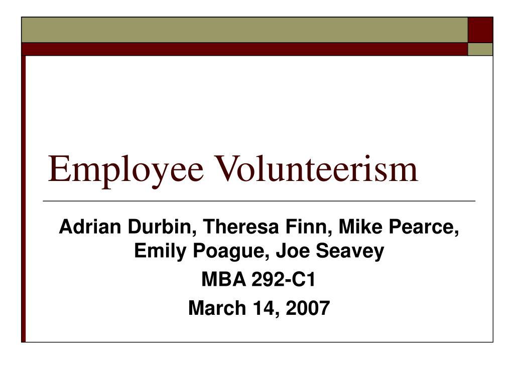 employee volunteerism l.