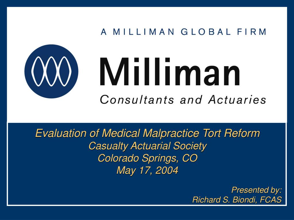 Evaluation of Medical Malpractice Tort Reform