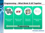 programming what binds it all together