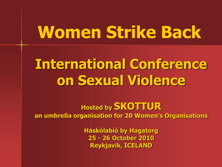 International Conference on Sexual Violence