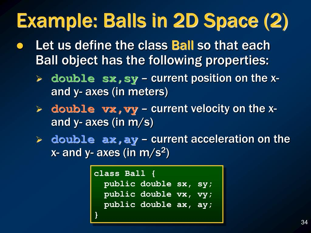 Example: Balls in 2D Space (2)