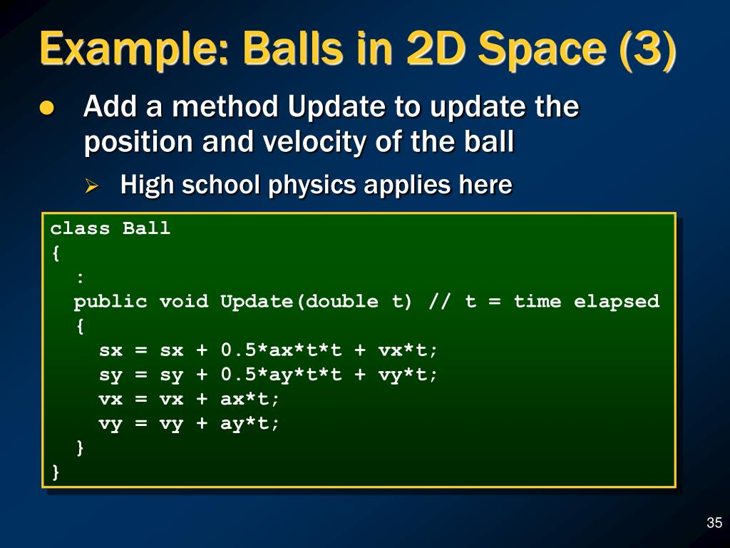 Example: Balls in 2D Space (3)