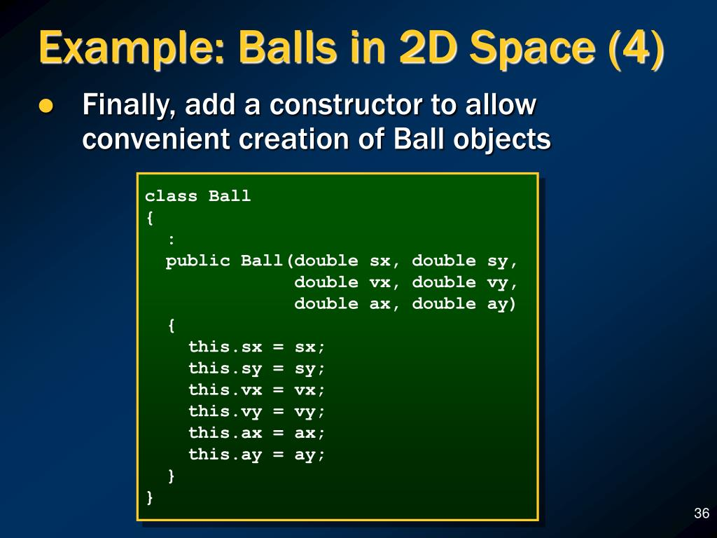 Example: Balls in 2D Space (4)