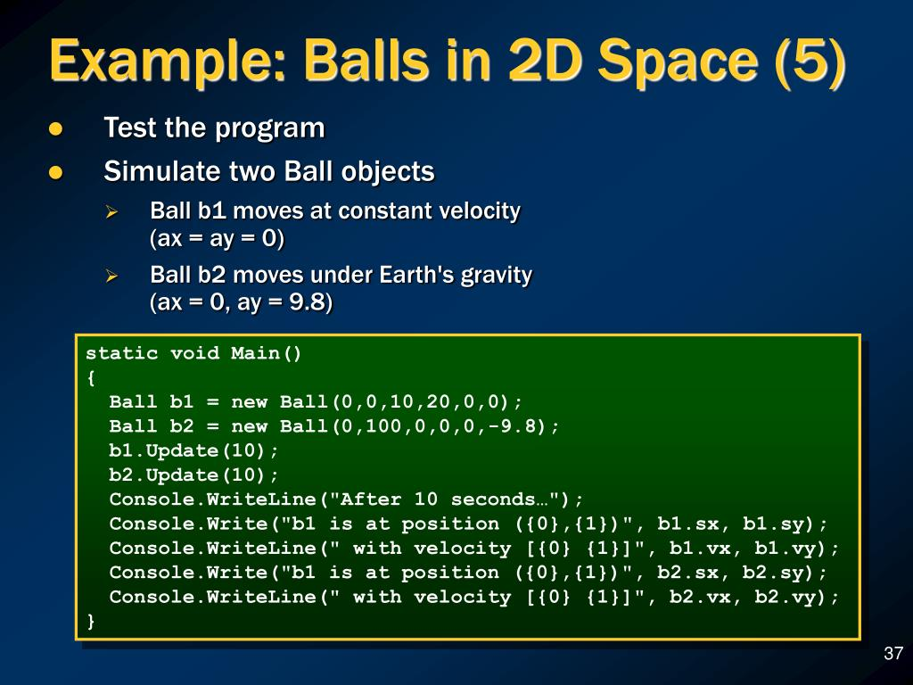 Example: Balls in 2D Space (5)