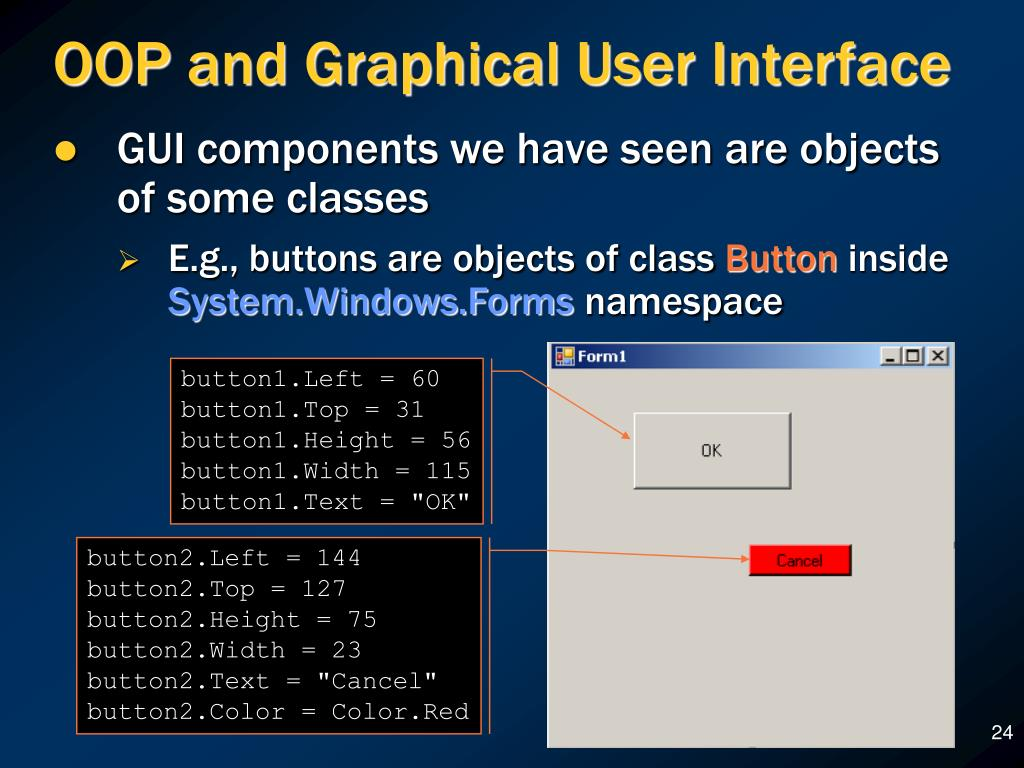 OOP and Graphical User Interface