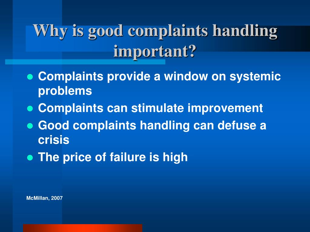 Why is good complaints handling important?