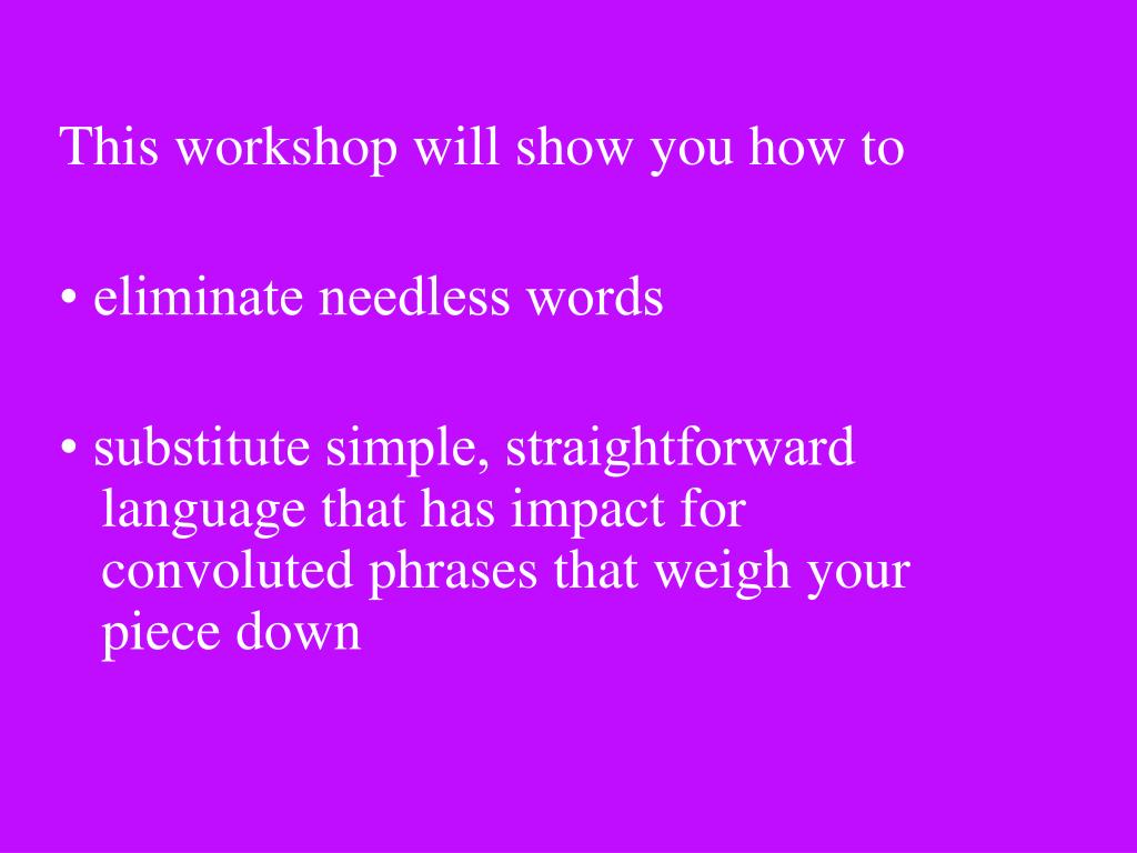 This workshop will show you how to
