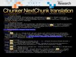 chunker nextchunk translation