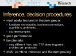 inference decision procedures