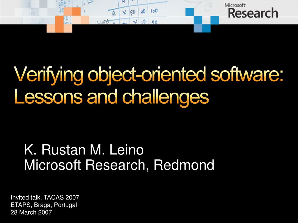 verifying object oriented software lessons and challenges
