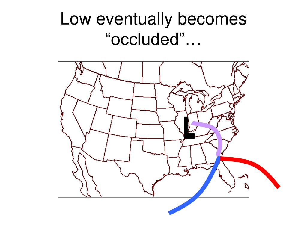 "Low eventually becomes ""occluded""…"