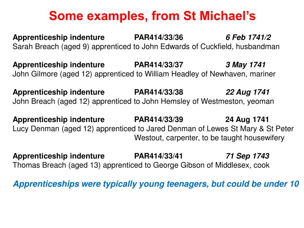 Some examples, from St Michael's