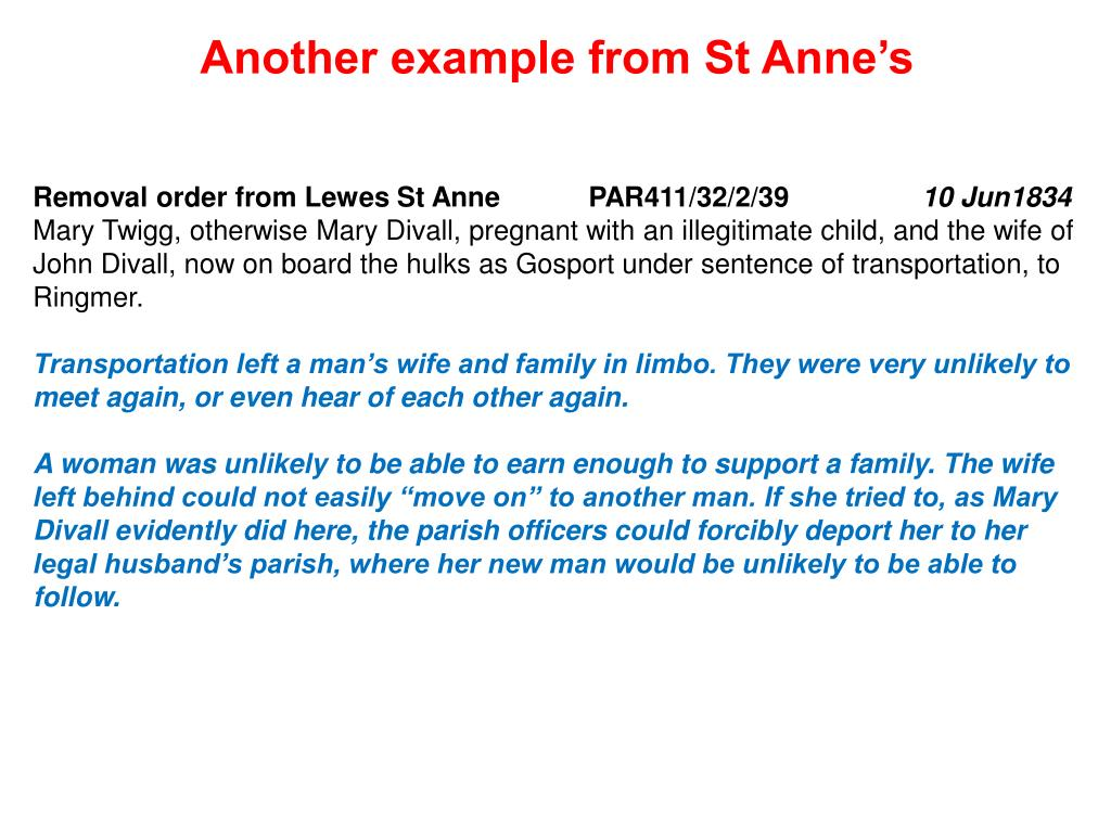Another example from St Anne's