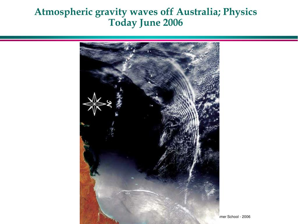 Atmospheric gravity waves off Australia; Physics Today June 2006