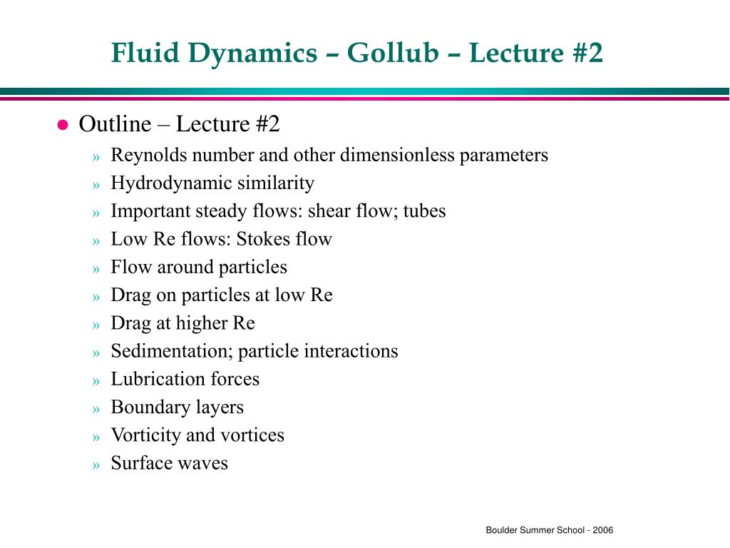 fluid dynamics gollub lecture 2 l.