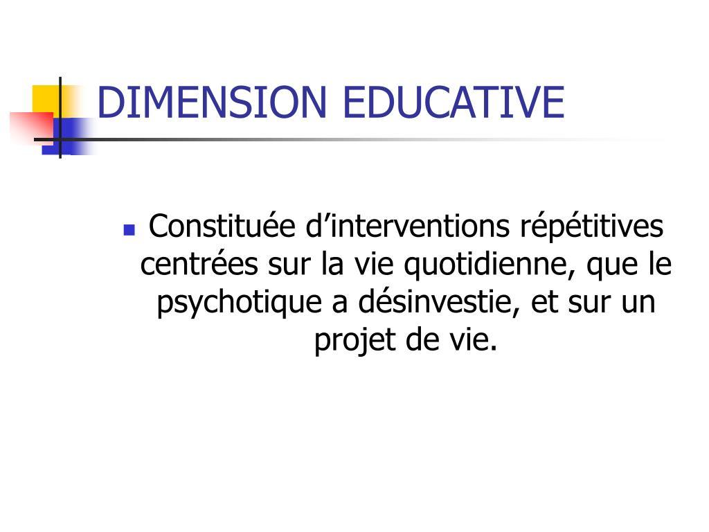 DIMENSION EDUCATIVE