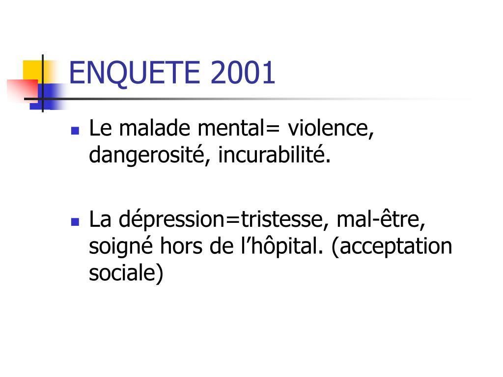 ENQUETE 2001