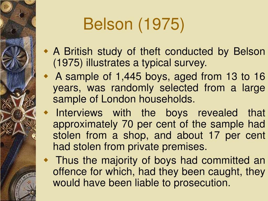 Belson (1975)