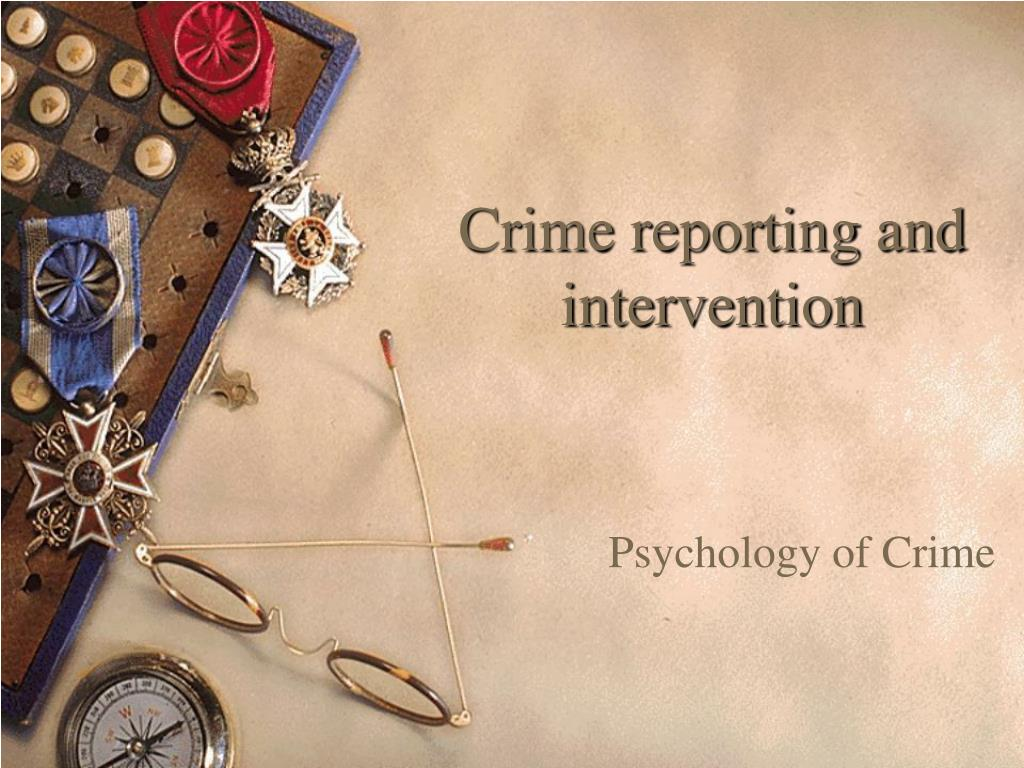 crime reporting and intervention l.