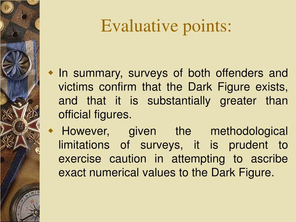 Evaluative points: