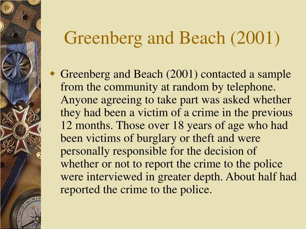 Greenberg and Beach (2001)