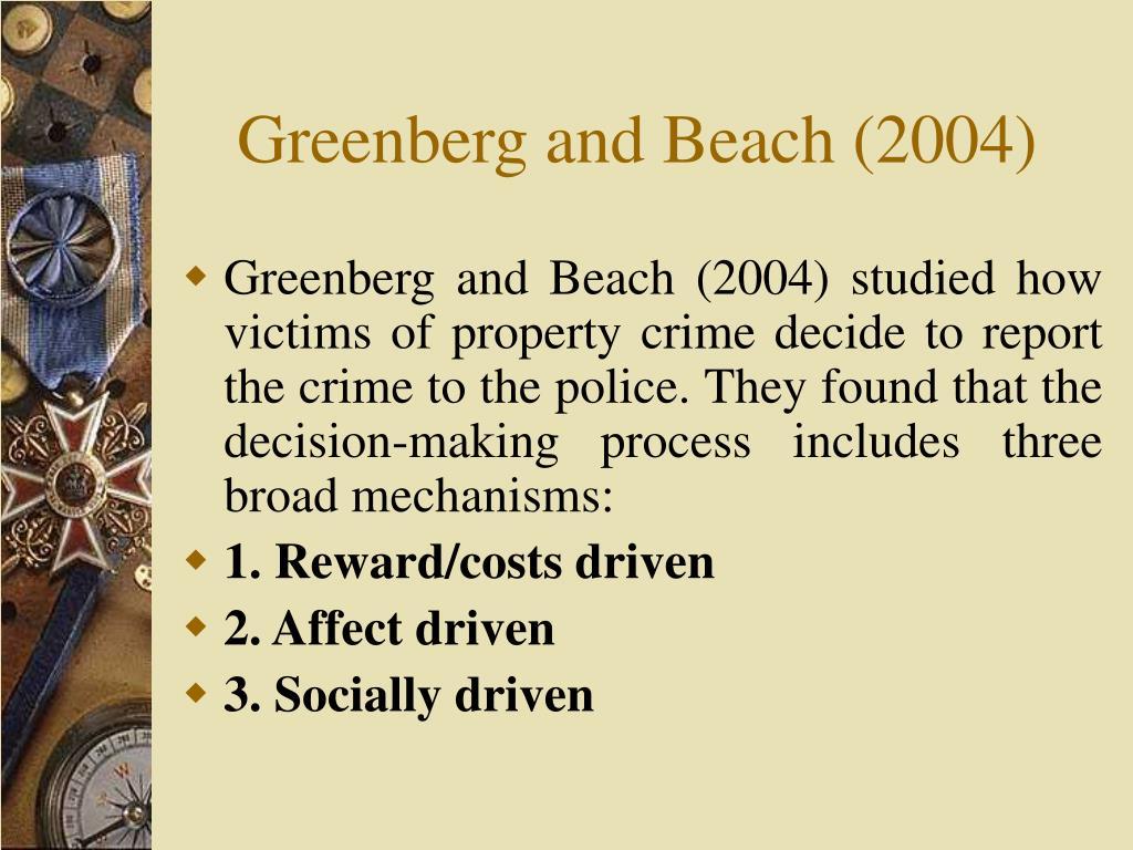 Greenberg and Beach (2004)