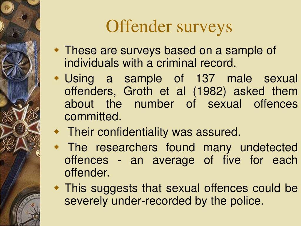 Offender surveys