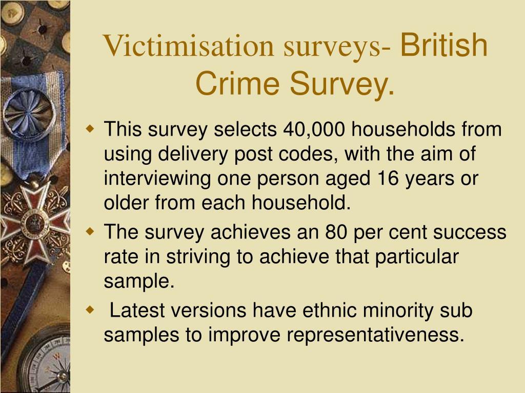 Victimisation surveys-