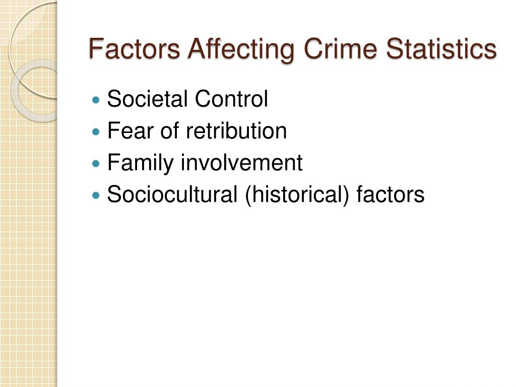 Factors Affecting Crime Statistics