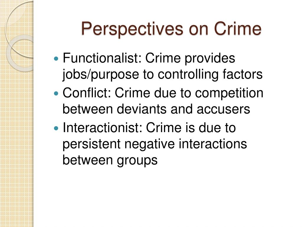 Perspectives on Crime