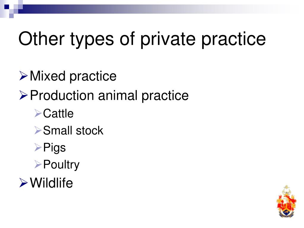 Other types of private practice