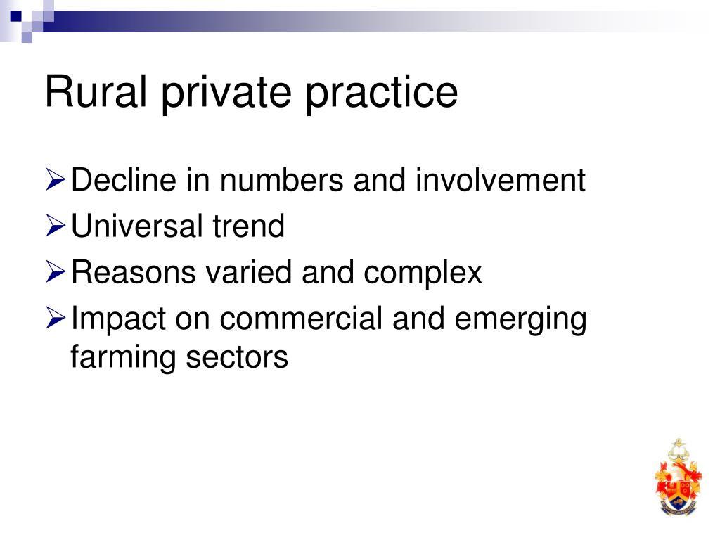 Rural private practice