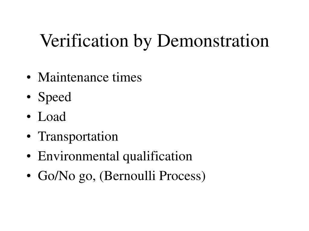 Verification by Demonstration
