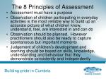 the 8 principles of assessment