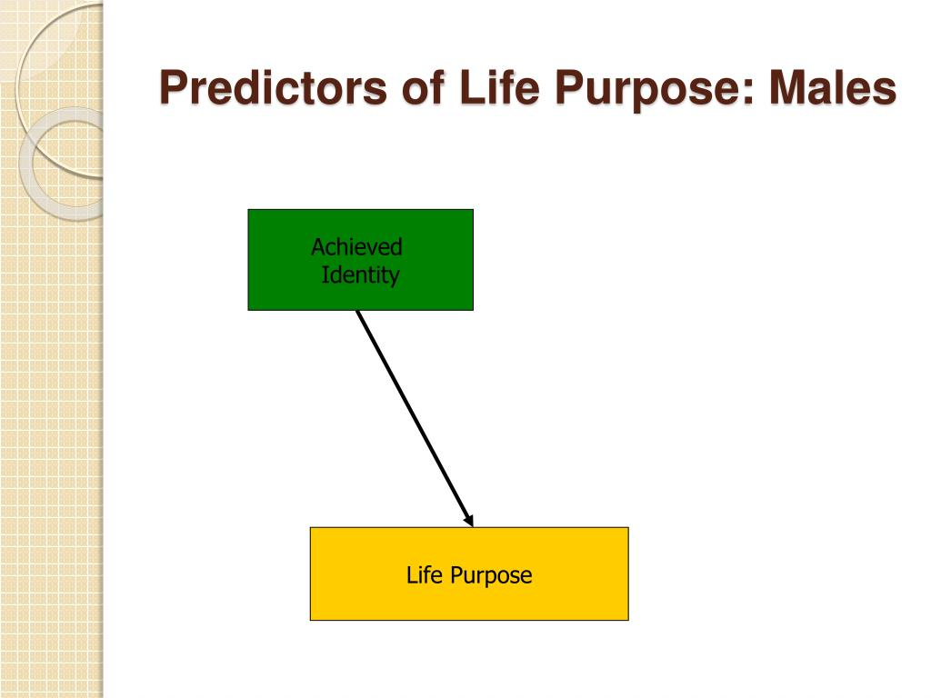 Predictors of Life Purpose: Males