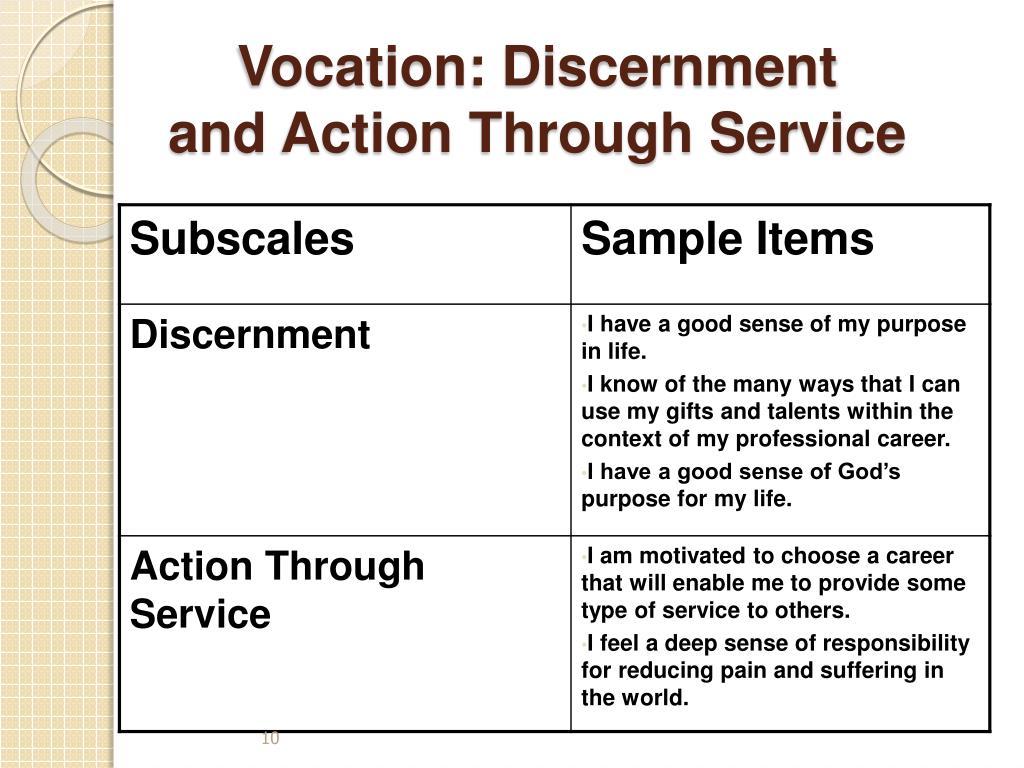 Vocation: Discernment