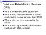 division of rehabilitation services drs