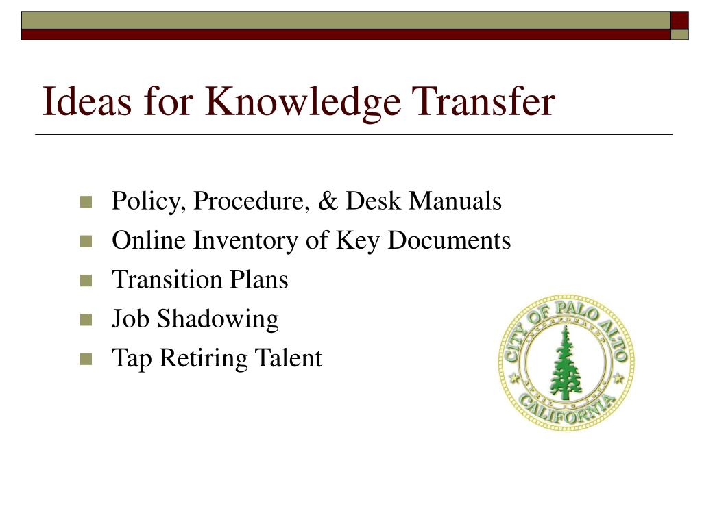 Ideas for Knowledge Transfer