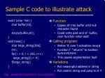 sample c code to illustrate attack