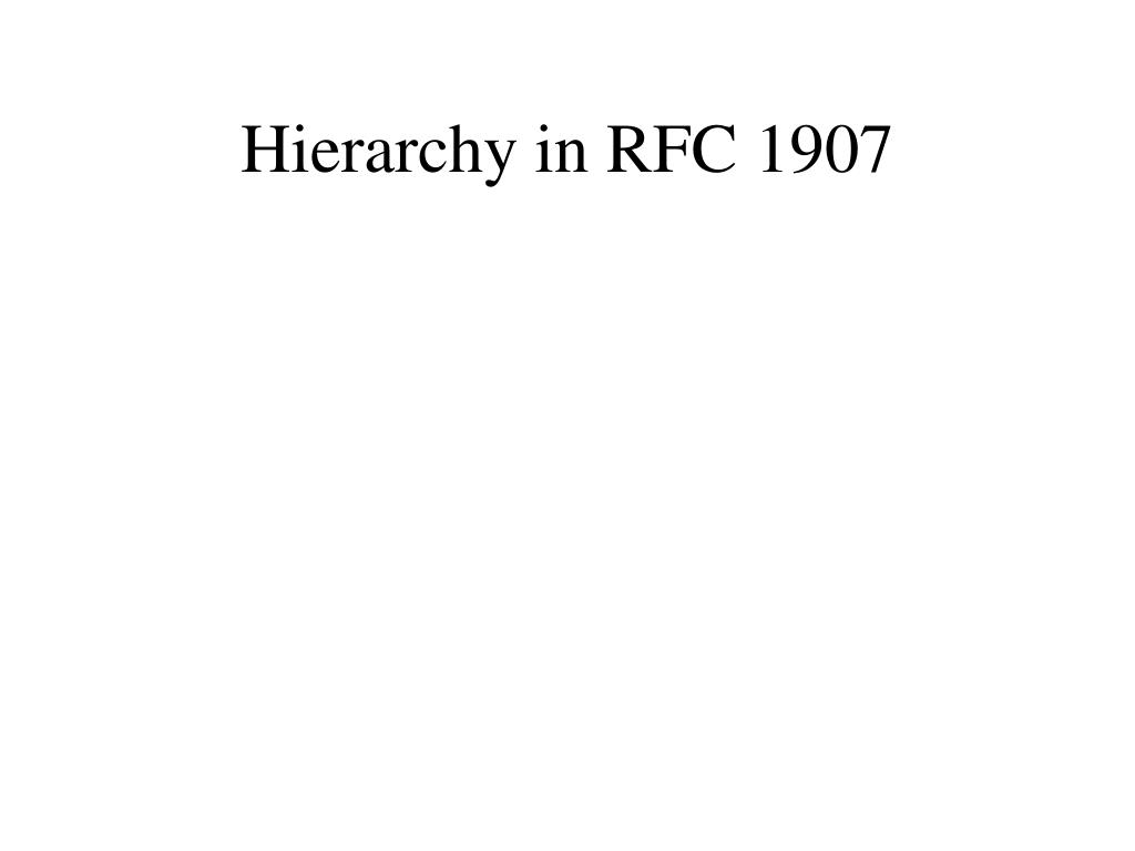 Hierarchy in RFC 1907